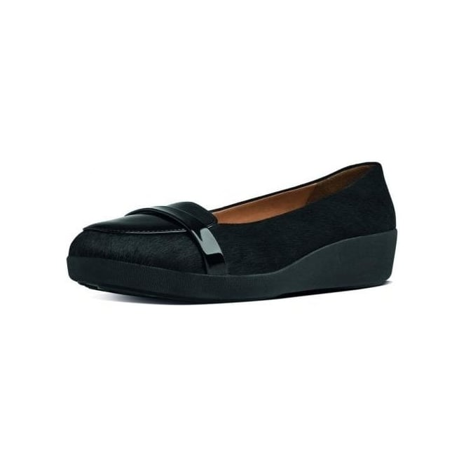 ab5f3c23d FF2™ F-Pop™ Loafer in Black Patent and Faux Pony Hair Mix