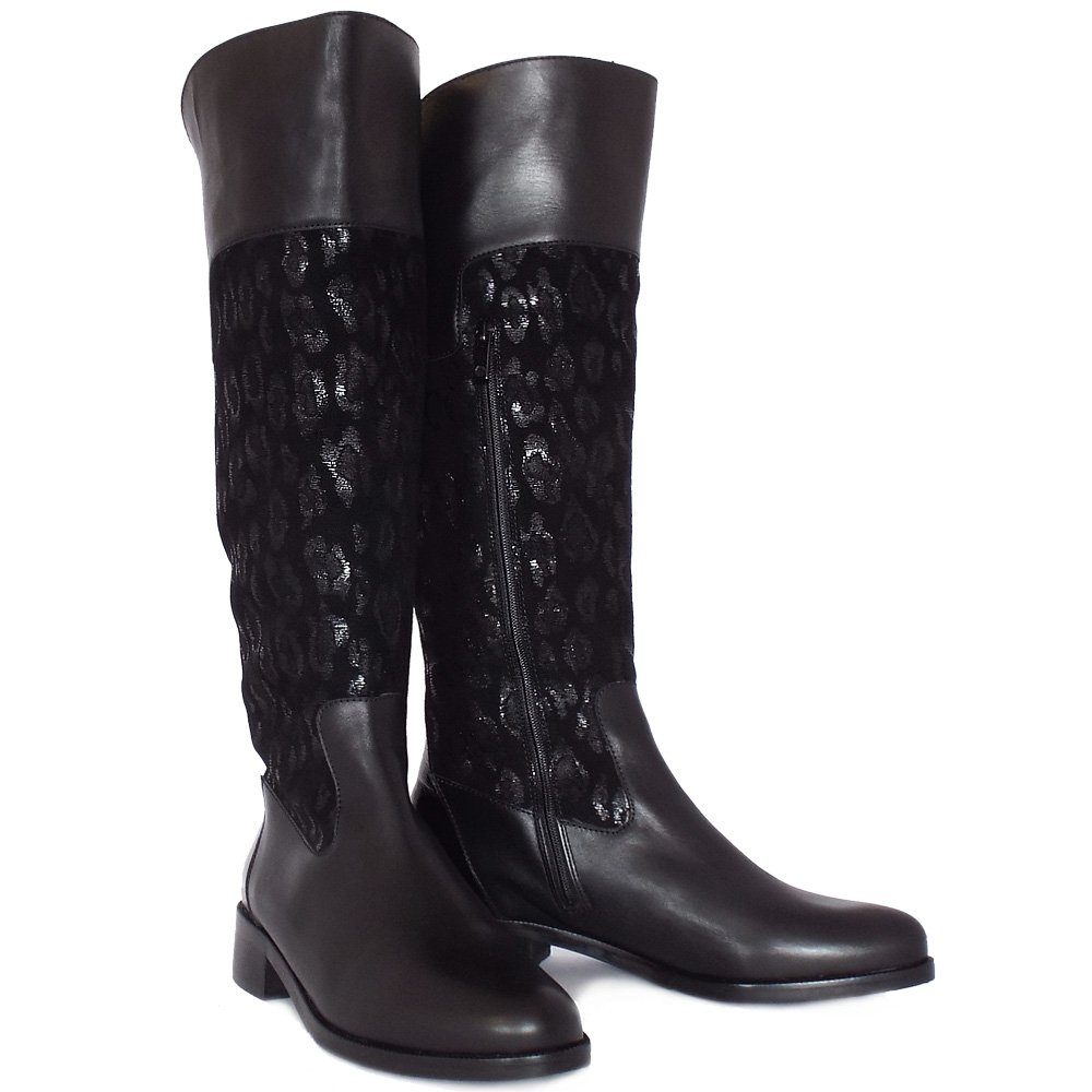 Peter Kaiser Fiora Fashion Knee High Boots In Black Mozimo