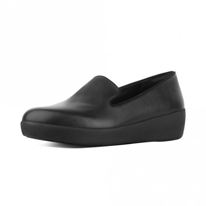 FitFlop Audrey™ Smoking Slipper Shoes in Black