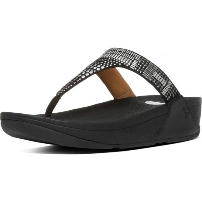 Aztek Chada Toe Post Sandals in Black