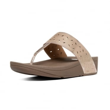 FitFlop Bahia™ Toe Post Sandal in Rose Gold