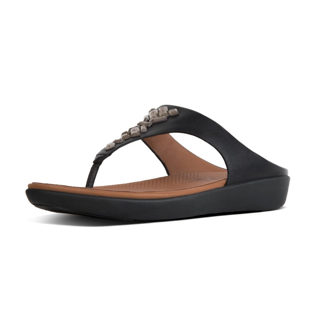 bbd6f7720c1c Banda™ II Leather Toe Thong Sandals in Black