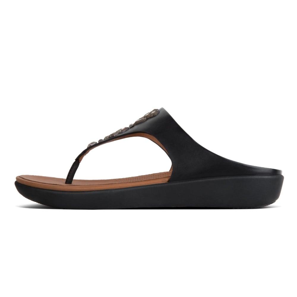 71f3ea02c Banda™ II Leather Toe Thong Sandals in Black