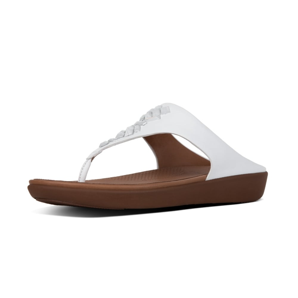 33614d5d3 Banda™ II Leather Toe Thong Sandals in Urban White