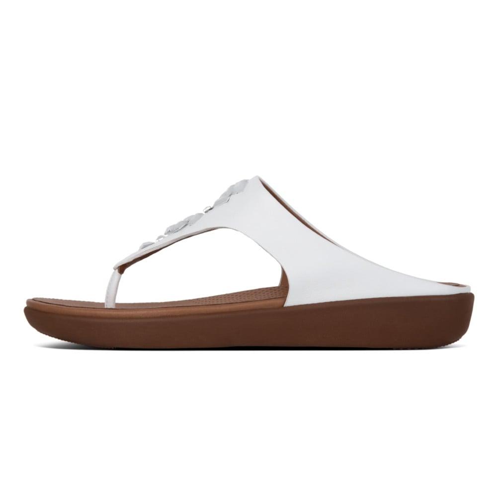 5530c570de06f Banda™ II Leather Toe Thong Sandals in Urban White