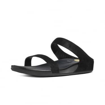 Banda™ Opul Slide Women's Slip On Sandals in Black Suede