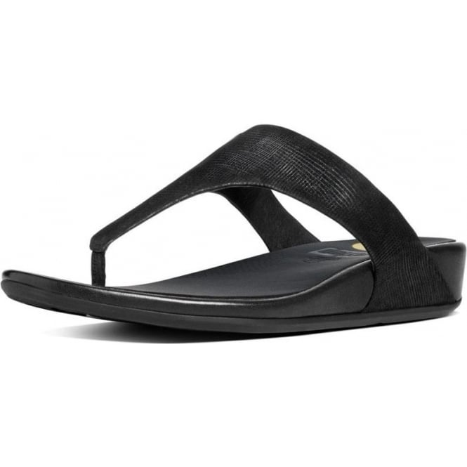 FitFlop Banda™ Opul Toe-Thong Women's Sandals in Black Suede
