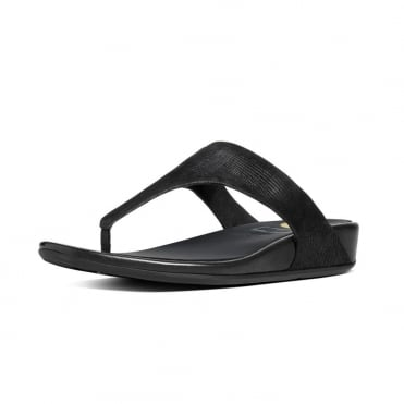 Banda™ Opul Toe-Thong Women's Sandals in Black Suede