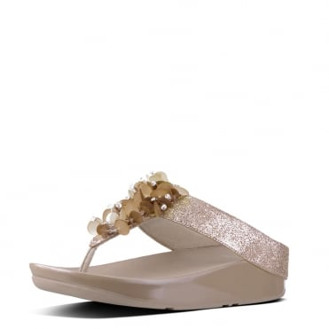 Boogaloo™ Toe-Post Sandals in Rose Gold