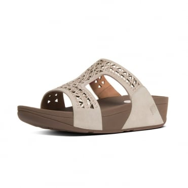FitFlop Carmel™ Slide Sandals in Rose Gold Suede