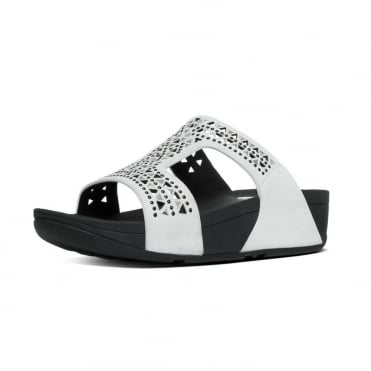 Carmel™ Slide Sandals in Urban White Suede
