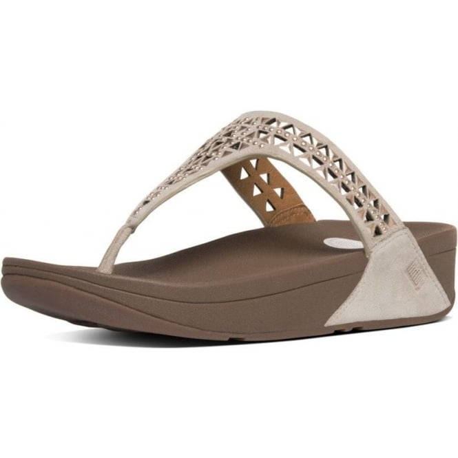 fccec20be3f846 Carmel™ Toe-Post Sandals in Rose Gold Suede