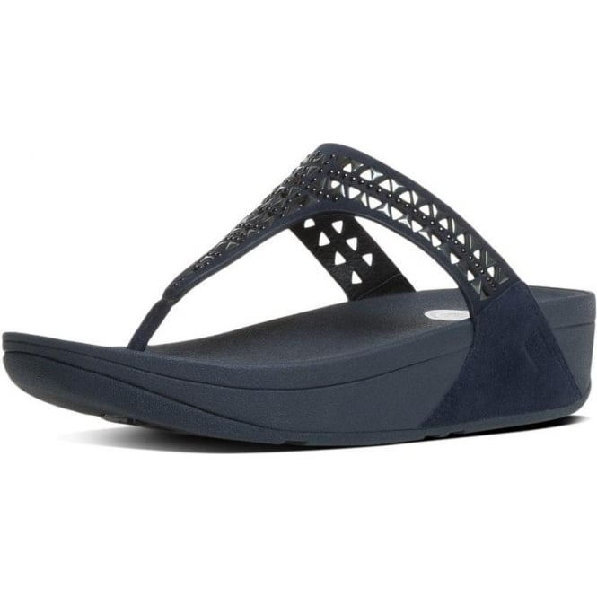 5d005be94320 Carmel™ Toe-Post Sandals in Supernavy Suede