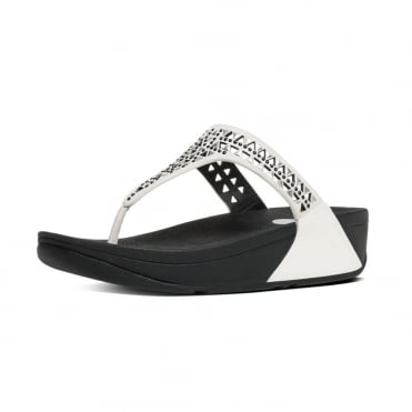 FitFlop Carmel™ Toe-Post Sandals in Urban White Suede