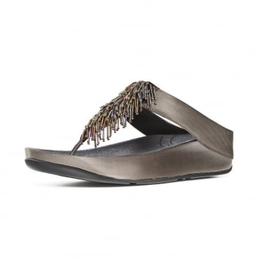 FitFlop Cha Cha™ Ladies Toe Post Sandal in Nimbus Silver