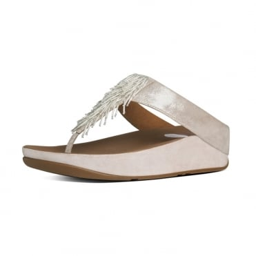 Cha Cha™ Ladies Toe Post Sandal in Silver