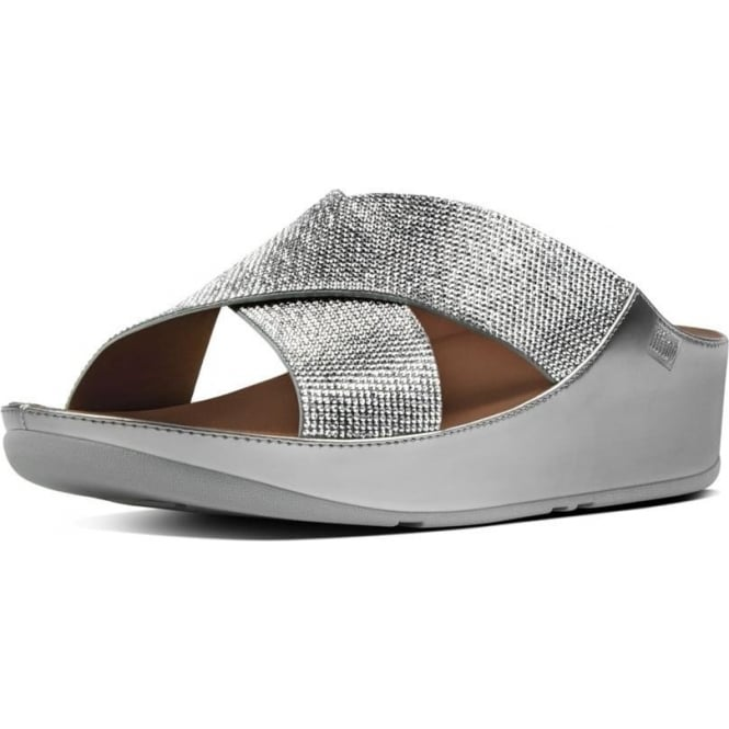 3248f0bf7051a1 Crystall™ Slide Sandals in Silver