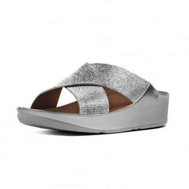 Crystall™ Slide Sandals in Silver