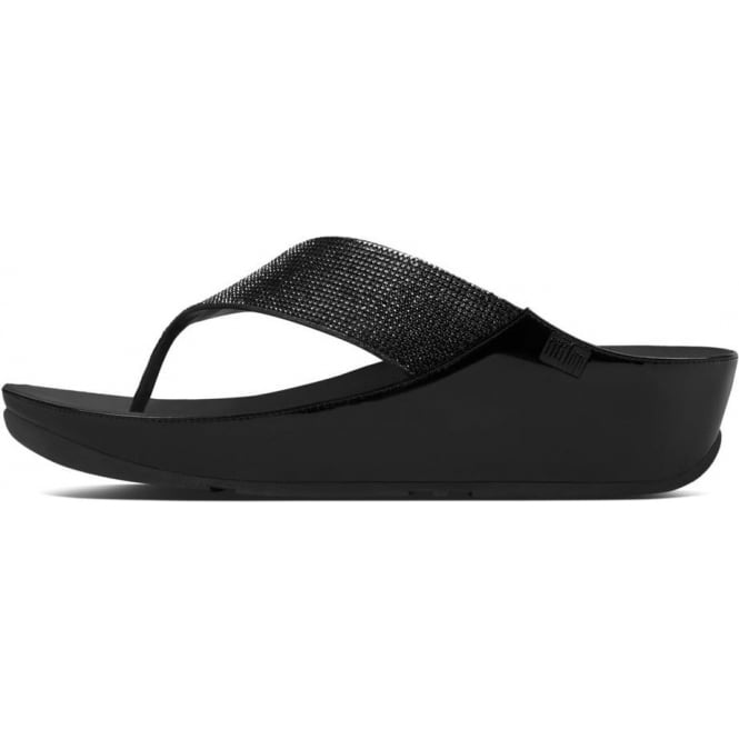 FitFlop Crystall™ Toe Post Sandal in Black
