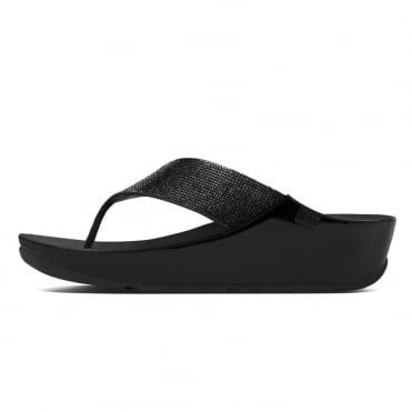 Crystall™ Toe Post Sandal in Black