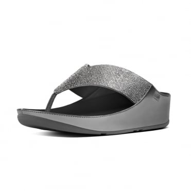 Crystall™ Toe Post Sandal in Pewter