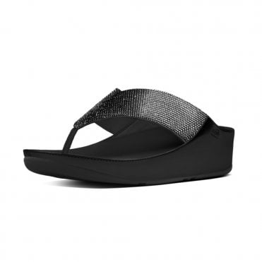 Crystall™ Toe-Post Sandals in Black