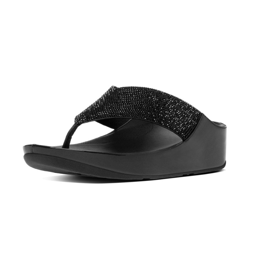f3409caee58707 Crystall™ Toe-Post Sandals in Black