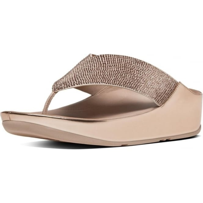 FitFlop Crystall™ Toe-Post Sandals in Rose