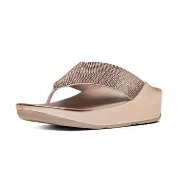 Crystall™ Toe-Post Sandals in Rose