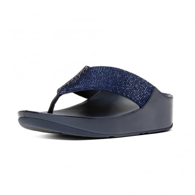 FitFlop Crystall™ Toe-Post Sandals in Supernavy