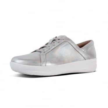 F-Sporty™ II Lace Up Sneakers - Iridescent Leather in Silver