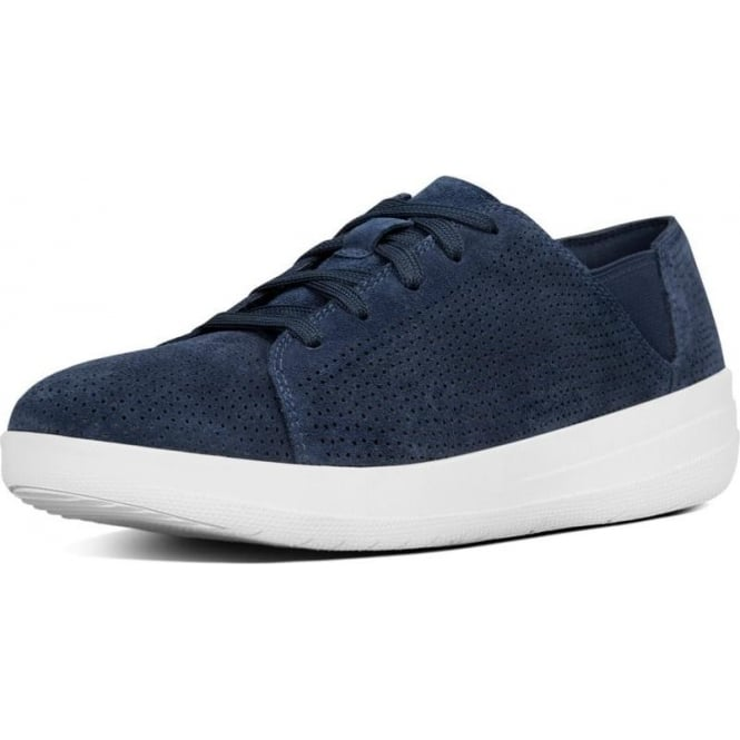 FitFlop F-Sporty™ Perf Suede Lace-up Sneakers in Midnight Navy