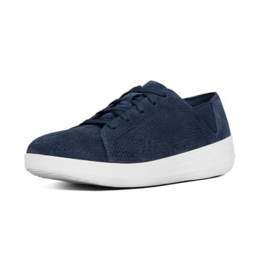 F-Sporty™ Perf Suede Lace-up Sneakers in Midnight Navy