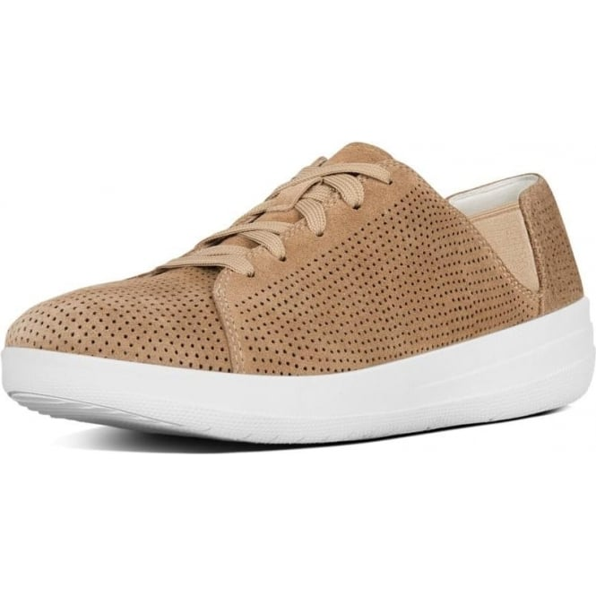 FitFlop F-Sporty™ Perf Suede Lace-up Sneakers in Soft Brown