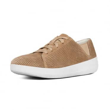 F-Sporty™ Perf Suede Lace-up Sneakers in Soft Brown
