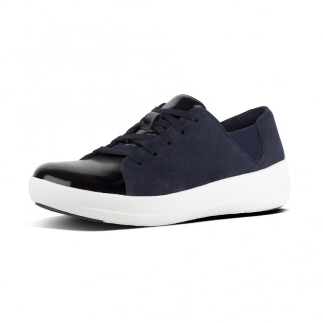 FitFlop F-Sporty™ Suede Mix Lace-up Sneakers in Navy Mix