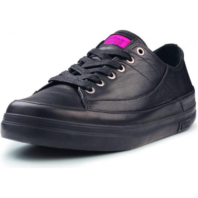 womens all black leather sneakers