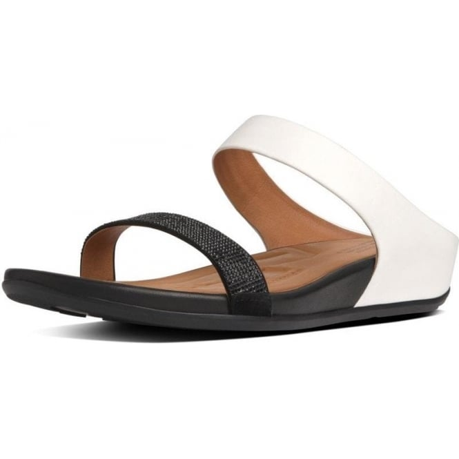 12921d0bb079c FitFlop™ FF2™ Banda™ Slide In Black And White Leather