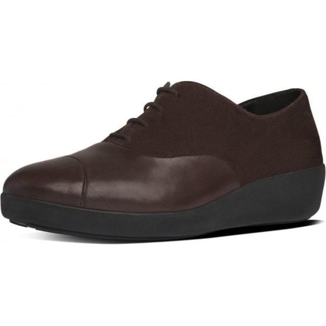FitFlop FF2™ F-Pop™ Oxford Ladies Shoes in Brown
