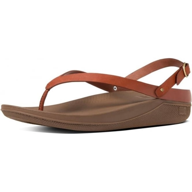 Flip Leather Sandals - Dark Tan FitFlop