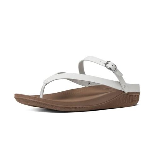 8806e45f27d284 Flip™ Leather Back-Strap Sandals in Urban White