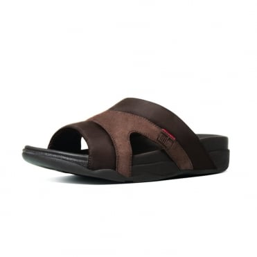 FitFlop Freeway III™ Mens Sandals in Chocolate