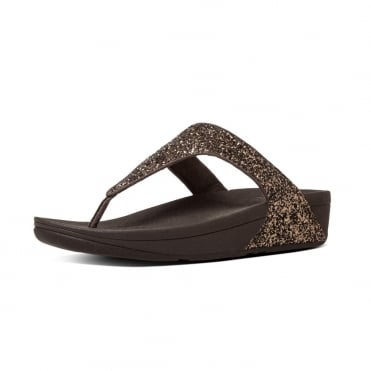Glitterball™ Toe-Post Sandals in Bronze