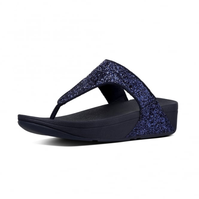 FitFlop Glitterball™ Toe-Post Sandals in Midnight Navy