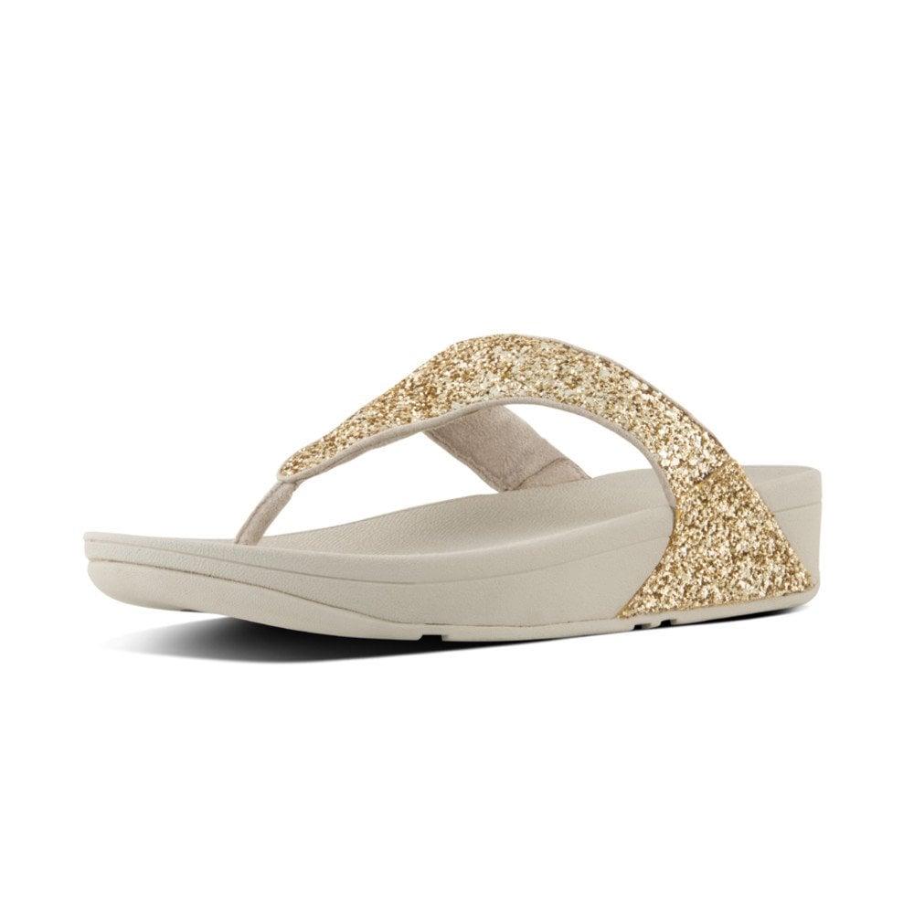 e52688a685ff Glitterball™ Toe-Post Sandals in Pale Gold