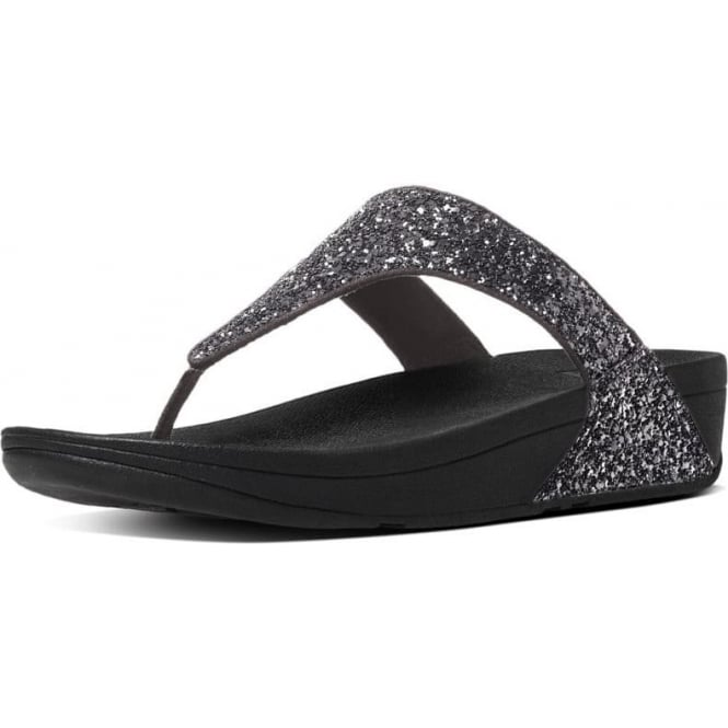 FitFlop Glitterball™ Toe-Post Sandals in Pewter