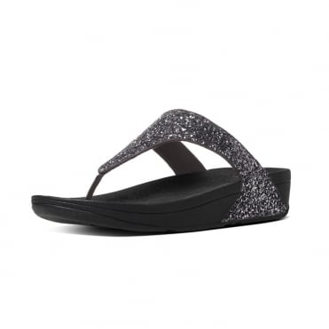 Glitterball™ Toe-Post Sandals in Pewter