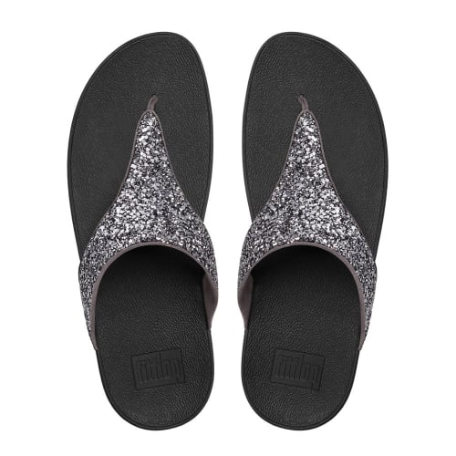 77ba20742d2 Glitterball™ Toe-Post Sandals in Pewter