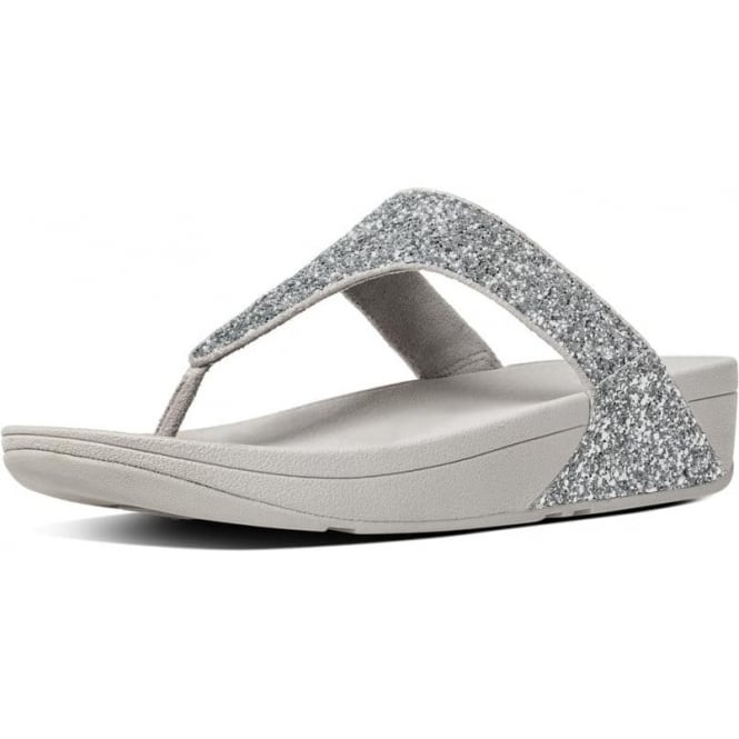 7a8ed4e1a80 Glitterball™ Toe-Post Sandals in Silver