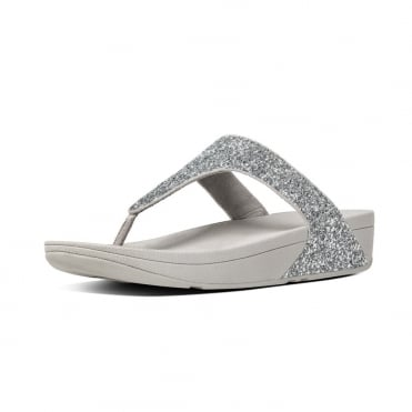 Glitterball™ Toe-Post Sandals in Silver